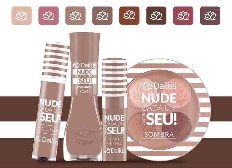 """Coleção """"Nude, cada um tem o seu!"""" da Dailus valoriza os mais variados tons de pele"""