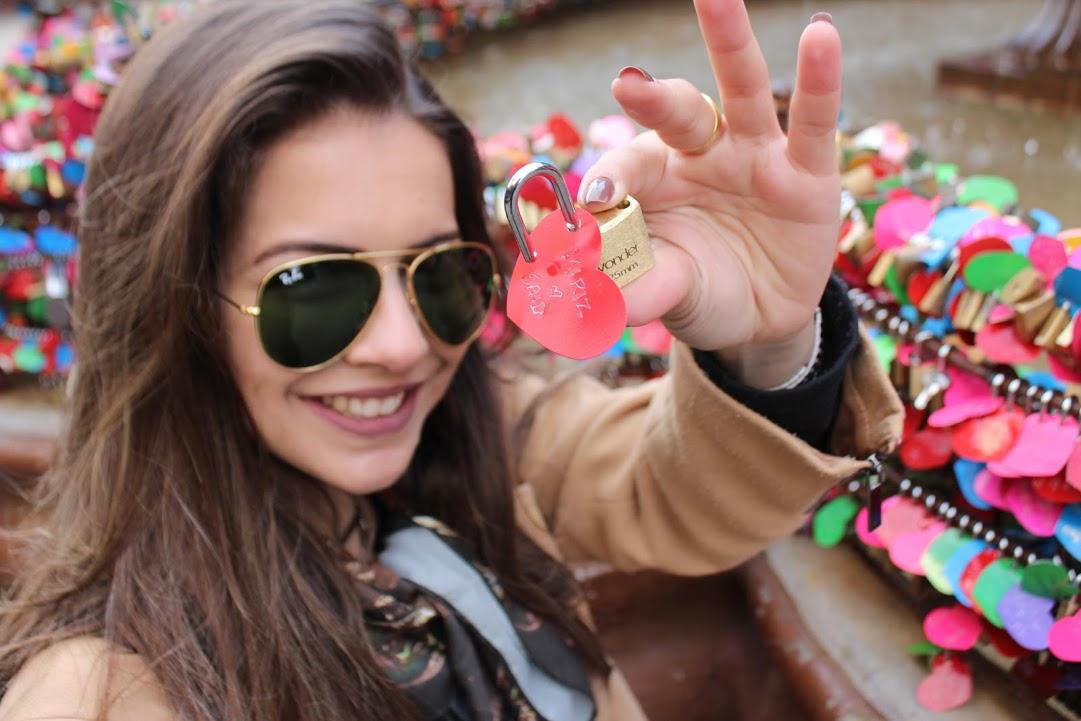 Cadeados do amor em Gramado. Demonstração de carinho a distância.