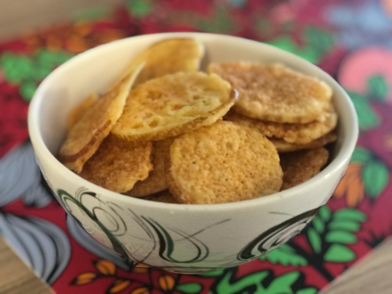 queijo desidratado como fazer - snack lowcarb