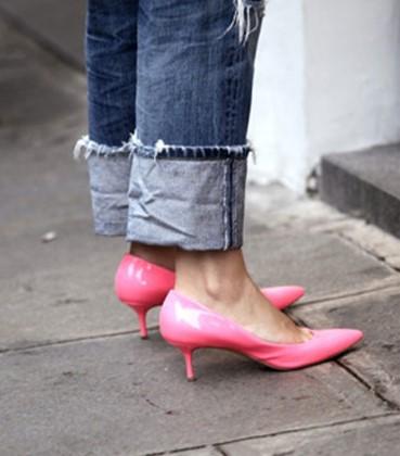 kitten heels looks